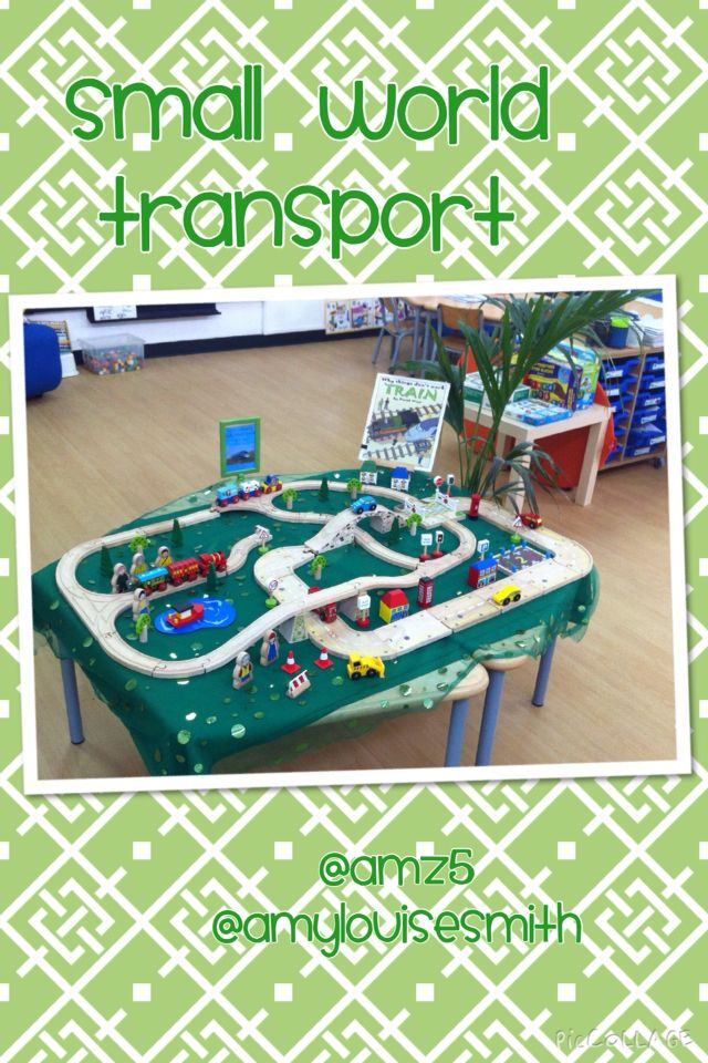 Transport themed small world this week