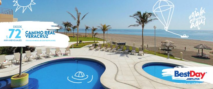 #OjalaEstuvierasAqui Camino Real Veracruz  se encuentra en un moderno edificio de 12 pisos, está ubicado en la playa Penacho del Indio, Boca del Río, en el Puerto de #Veracruz. Este hotel de playa es ideal para ejecutivos, ofrece facilidades de negocios, cuenta con 156 habitaciones con balcón, Internet inalámbrico, piscina, gimnasio y área de juegos infantiles.  #BestDay