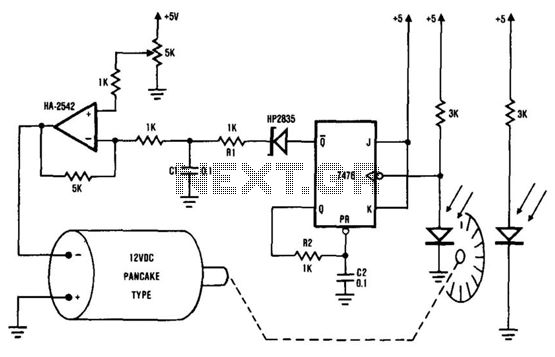 Simple DC motor PWN speed controlCircuit diagram Sterowanie