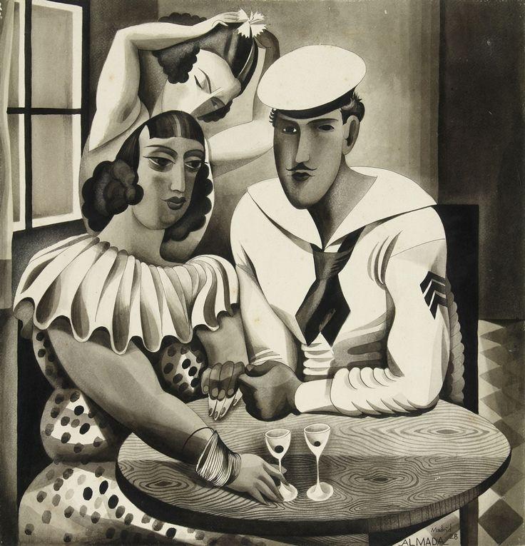 FB / José de Almada Negreiros (1983-1970) Sem título, 1928, tinta da China e guache sobre papel, 43,3 x 41,9 cm. Museu Calouste Gulbenkian - Coleção Moderna, inv. DP226