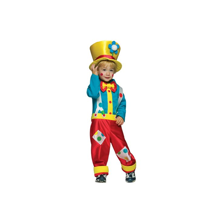 Halloween Boys' Clown Costume - 3T/4T, Multi-Colored