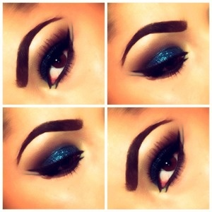 great eye brows and BEAUTIFUL blue eye shadow