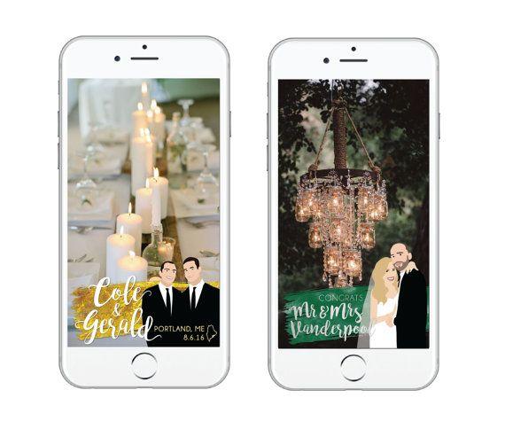 Custom Wedding Couple Cartoon Snapchat Geofilter 2 by QuinnieStuff