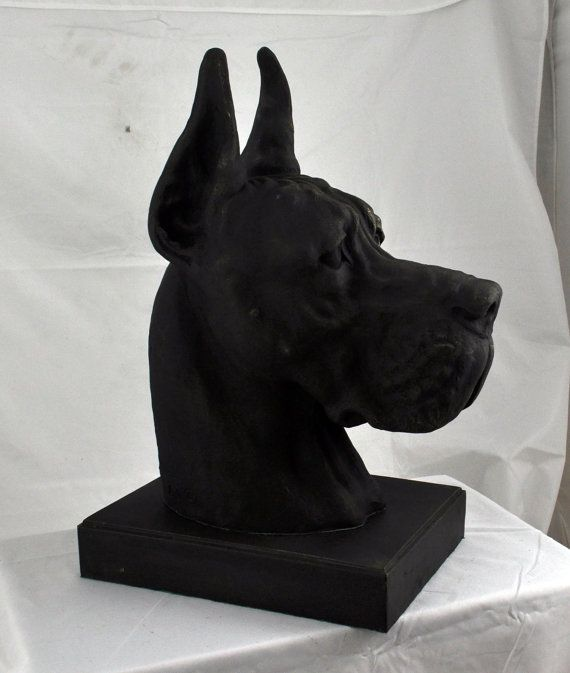 Great Dane Deutsche Dogge cropped with desk by ArtDogshopcenter