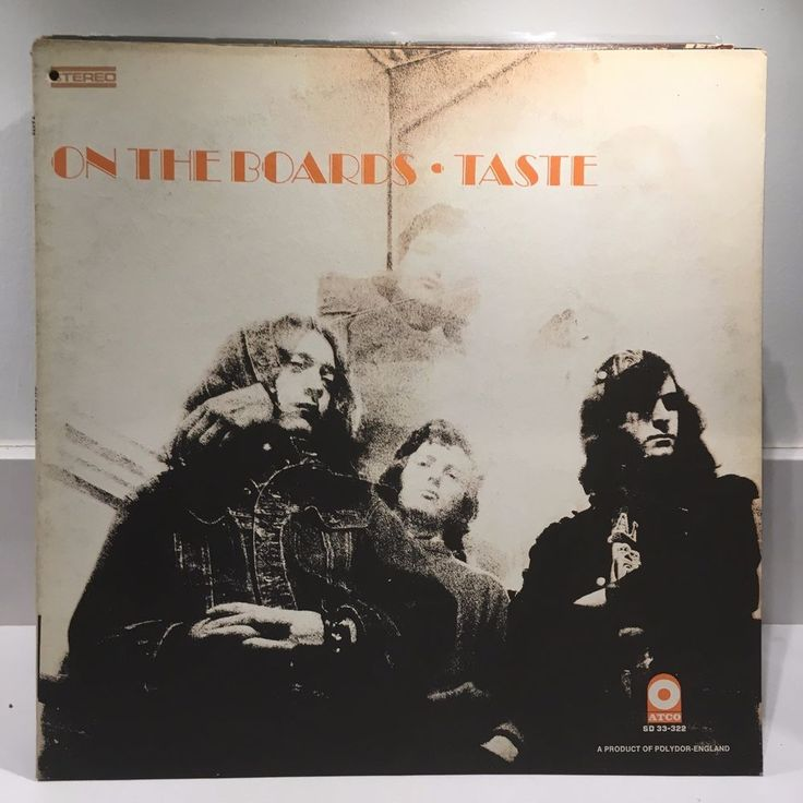 TASTE On the Boards LP 1970 Atco 33-322 ORIG US PRESS Rory Gallagher EX #BluesRockProgressiveArtRockRocknRoll