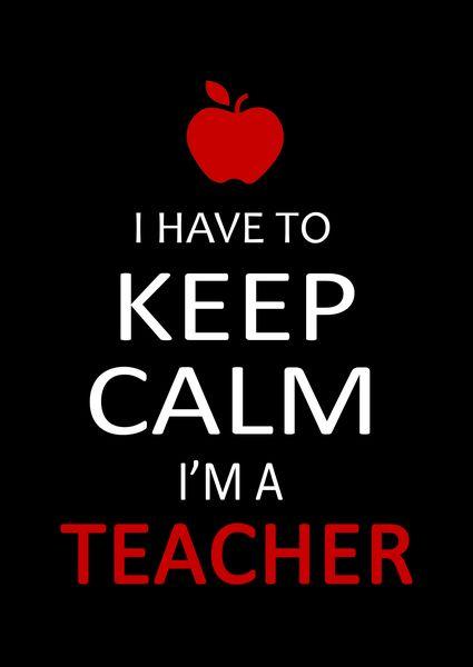 """I Have to Keep Calm, I'm a Teacher"" Unisex T-shirt – We Appreciate Teachers #daycaretruths"