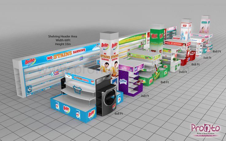Product Display Racks designs for Colgate Palmolive.
