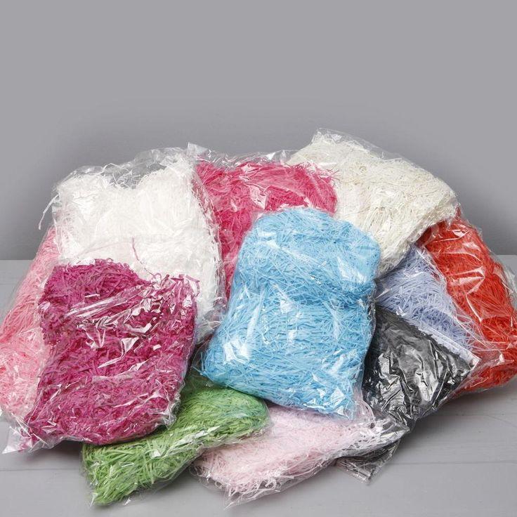 100g SHREDDED TISSUE PAPER BAGS HAMPER BASKET COLOURED PAPER PACKAGING FILLER UK  | eBay
