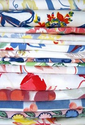 Collecting: Vintage Tablecloths. I have a passion for these things! She offers an interesting suggestion for getting stains out. That way you can buy spotted ones cheaply!