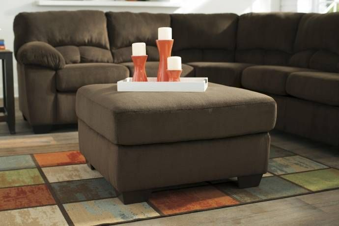 Ashley Dailey 4 Piece Living Room Set In Chocolate 95403 38 35 25 08 Kit Buy Online Oversized Ottoman Signature Design By Ashley Ashley Furniture Living Room