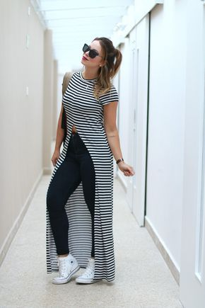 juliana goes | look do dia | juliana goes blog | look casual | blog de moda | camisetão feminino | camiseta longa | camiseta | all star de plataforma | converse chuck taylor lux