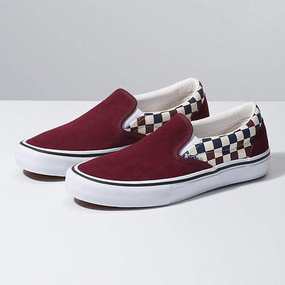 Multi Checker Slip On Pro Vans Slip On Shoes Custom Vans Shoes Hype Shoes
