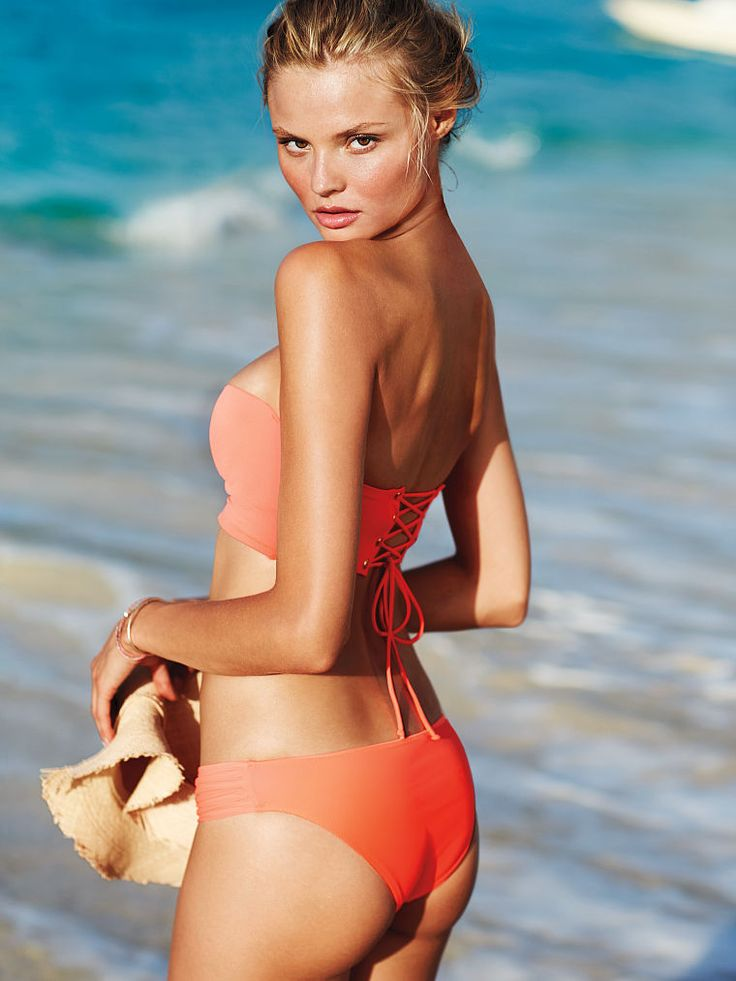 Sexy red bikini - Flirt Bandeau by Victoria'S Secret for $30. Buy it here: http://justbestylish.com/10-hottest-swimsuits-to-heat-up-your-honeymoon/9/