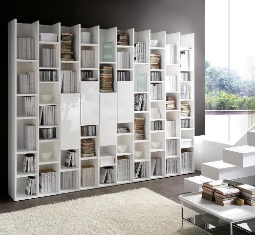 forward estantería de madera con cinco estantes de estilo moderno 5 3