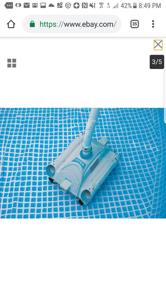 Intex Above Ground Swimming Pool Automatic Vacuum Cleaner