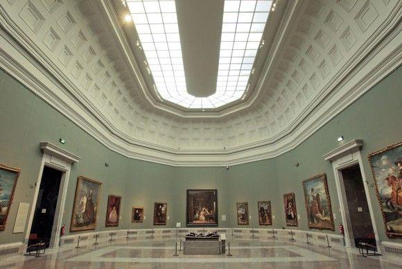 Interior and Ceiling of the Prada Museum.  Madrid, Spain