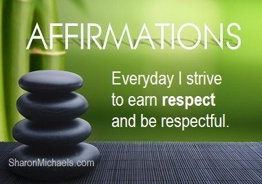 Empowering Word of the Week - RESPECT - http://SharonMichaels.com