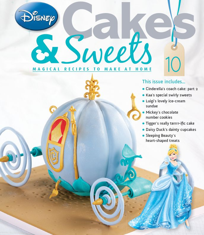 Turn your ingredients into this magnificent carriage in issue 10 of Disney Cakes and Sweets. #disneycakesandsweets