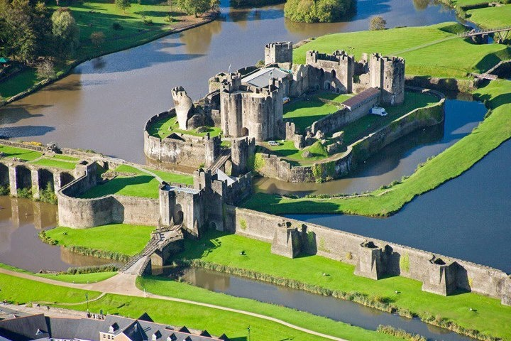 Caerphilly Castle, Wales.  Go to http://www.yourtravelvideos.com/view.php?view=146947 or click on photo for video and more on this site.