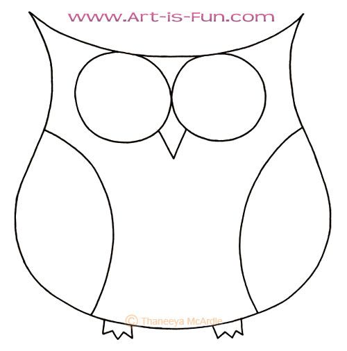 How To Draw A Cartoon Owl Owls Pinterest Owl
