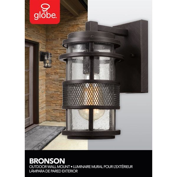 Shop Globe Electric  6.1-in W 1-Light Bronze Vintage Wall Wash Hardwired Standard Wall Sconce at Lowe's Canada. Find our selection of wall sconces at the lowest price guaranteed with price match.