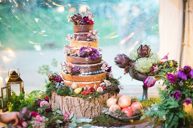 REAL WEDDING // Shani-Marie and Chris.  Wedding cake for their berry colour themed English wedding.  #weddingcake #cake #weddingideas #weddinginspiration
