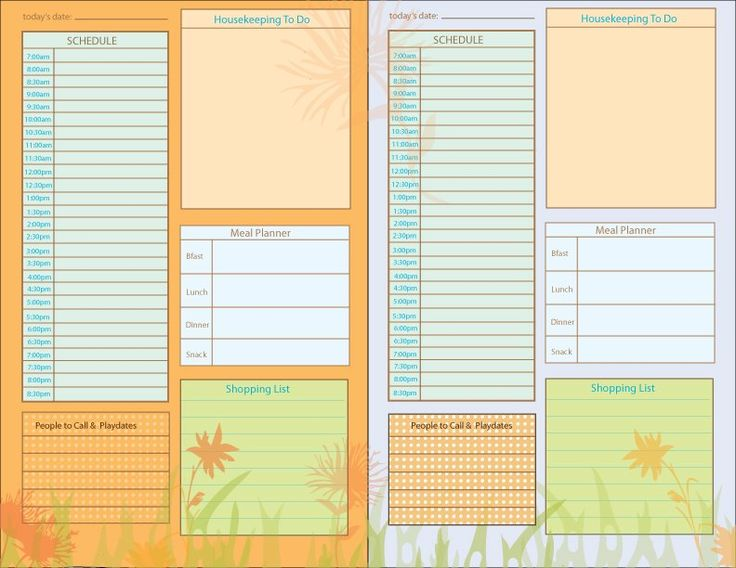 96 best Planners and Lists images on Pinterest Filing cabinets - planner page templates