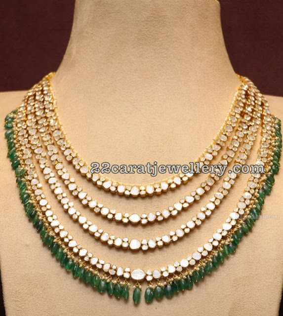Three Layers Diamond Necklace - Jewellery Designs                                                                                                                                                                                 More