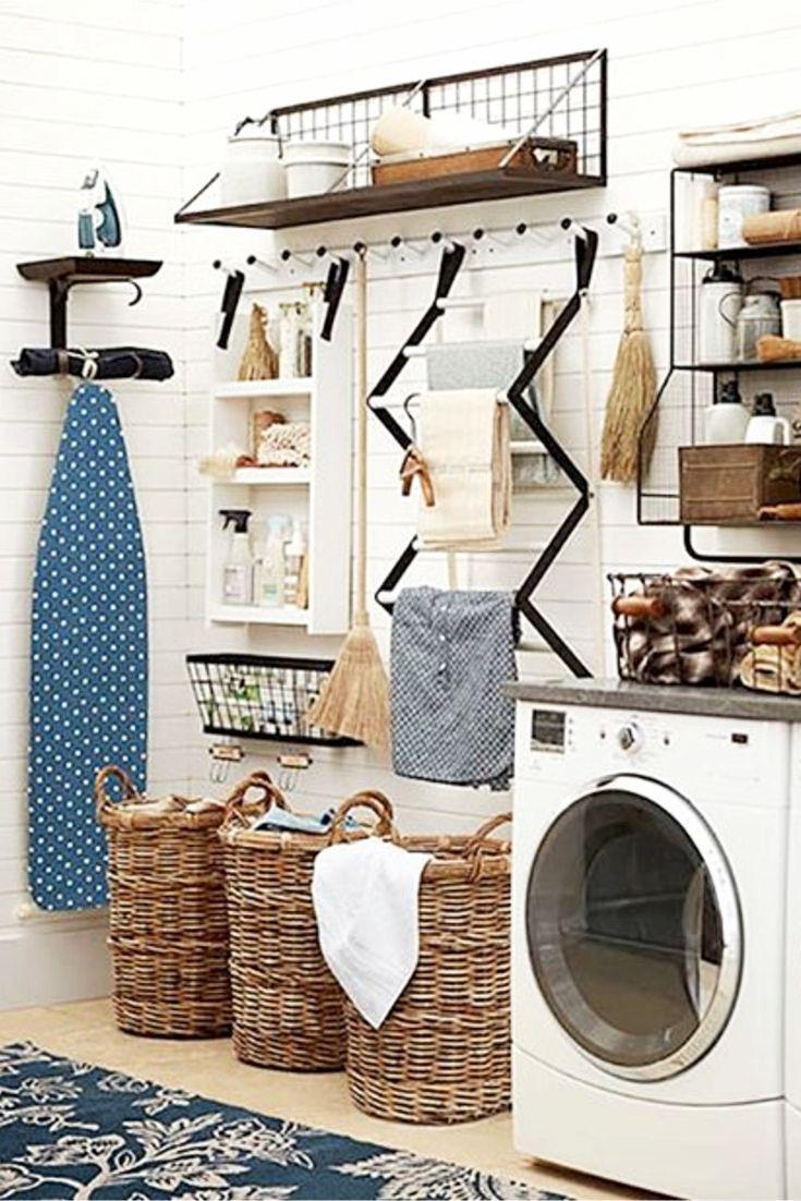 laundry nook ideas we love laundry mud room farmhouse laundry rh pinterest com