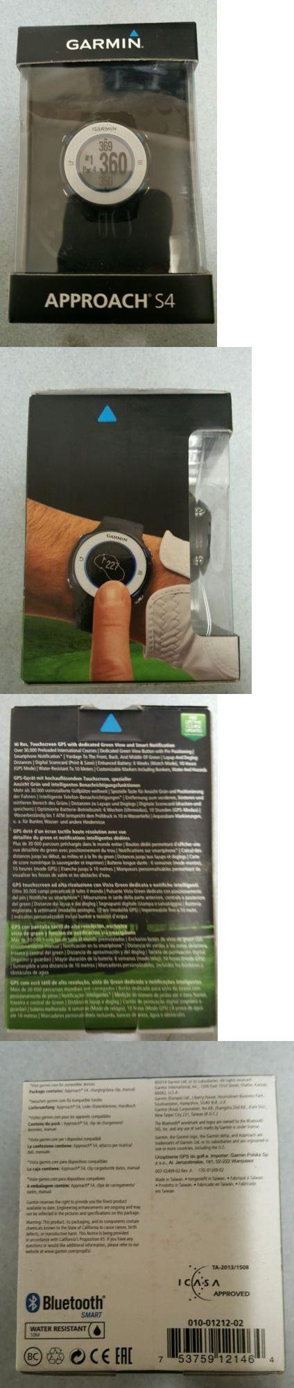 GPS Units: New Garmin Approach S4 Preloaded Golf Gps Watch - Blue / Black BUY IT NOW ONLY: $176.0