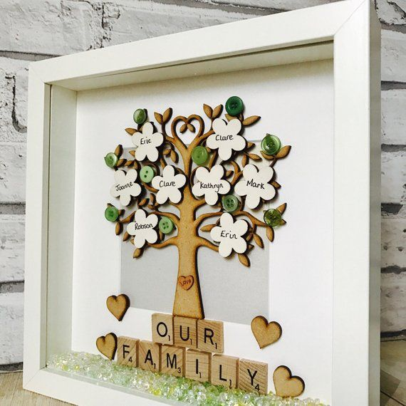 Family Gift Famiy Tree Frame Personalised Family Tree Frame Etsy Family Trees Diy Family Tree Frame Family Tree With Pictures