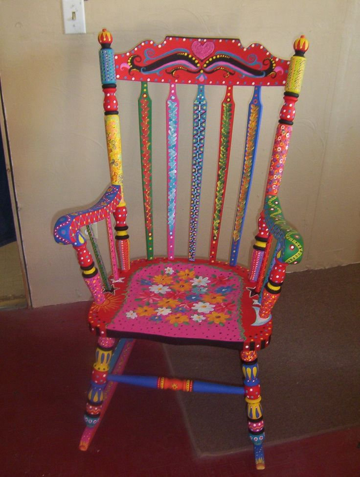 A recycled rocker: Paintings Furniture, Rocks Chairs, Furniture Arrangements, Children Furniture, Paintings Rockers, The Edge, Reading Chairs, Furniture Ideas, Paintings Chairs
