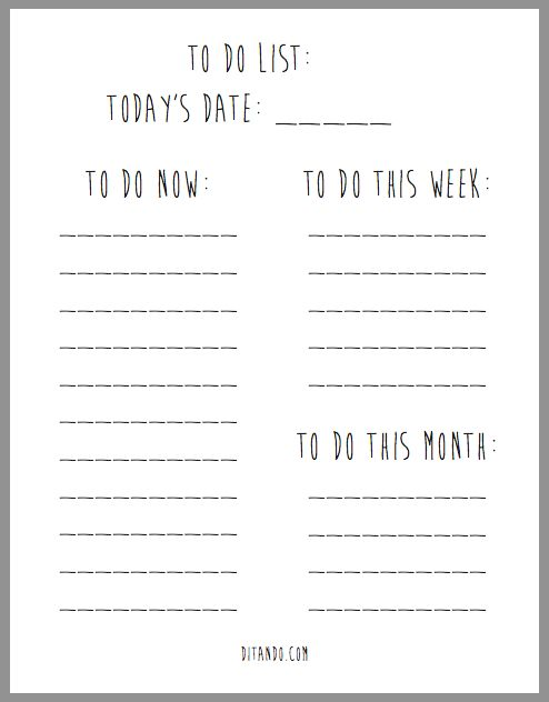 free to do list printable would be awesome to write on a whiteboard