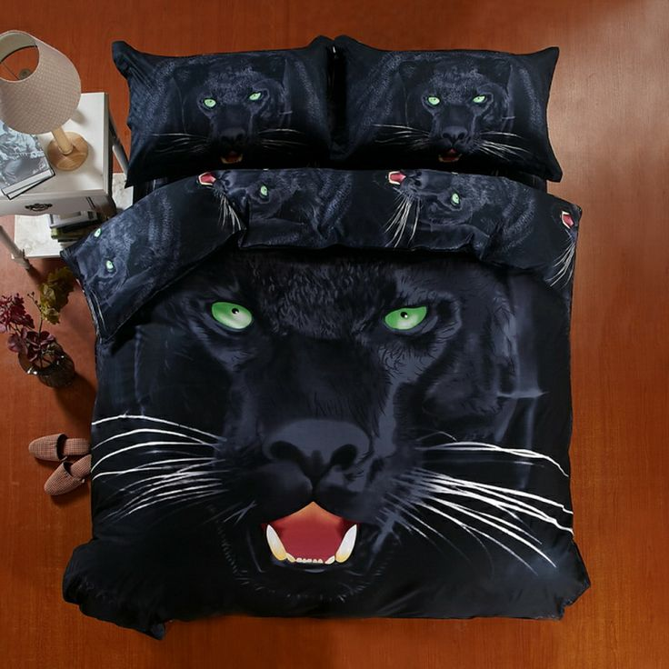 Panther Black Bedding 3d Duvet Cover Set