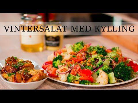 Kyllingsalat   Vintersalat med glasert kylling  15 min - YouTube