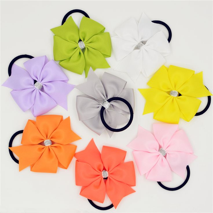 1pc Baby Girl Elastic Hair Bands Solid Color PonyTail Holder Hair Bow Headband Hairband for Newborn Infant Hair Accessories