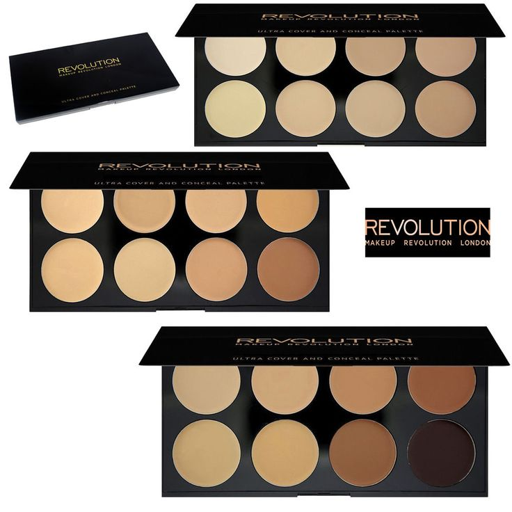 Ultra Cover and Conceal Palette Creams. MAKEUP REVOLUTION Ultra Cover and Conceal Palette. Highlighting Contouring Cover. Makeup Revolution. Makeup Revolution Palette 32 Shade Eye shadow Flawless Matte. | eBay!