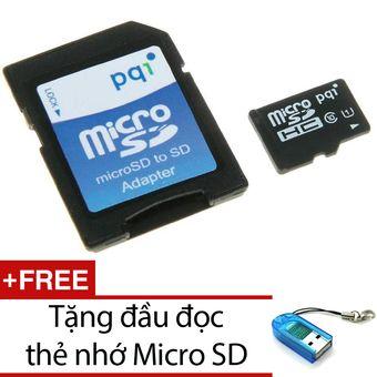 Mua Thẻ nhớ 16GB tốc độ cao 90MB/s Micro SDHC PQI U1C10 và Adapter + Tặng 1 đầu đọc thẻ nhớ chính hãng, giá tốt tại Lazada.vn, giao hàng tận nơi,...