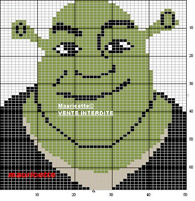 Shrek hama perler pattern by Mauricette