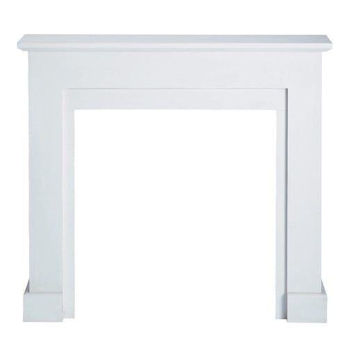 Deko-Kaminumrandung weiß