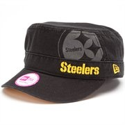 New Era Pittsburgh Steelers Ladies Goal-To-Go Military Adjustable Hat - Black [I WANT THIS!]