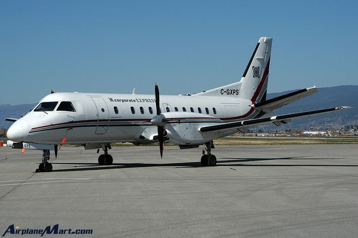 saab airplanes | Saab SF340A Corporate Express C-GXPS Photo Taken Penticton Airport BC ...