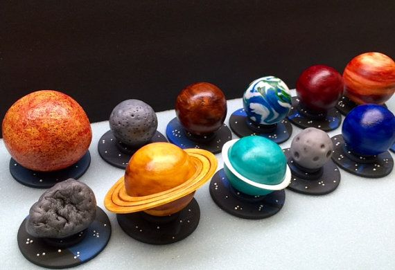 This listing is for 12 Fondant 3D Planet Cupcake/Cake Toppers You will get all 8 planets, Pluto, Earths Moon, Asteroid, Sun They sit on a 2 1/2 inch base and are quite large - sun being the largest. Hand painted with food coloring.   All my items are hand made of 100% edible products. Cupcake toppers are 2 inches in diameter unless stated otherwise.  In the event of a damaged/loose item upon arrival, a repair kit of edible glue and brush will be included.  You can check out the other items…