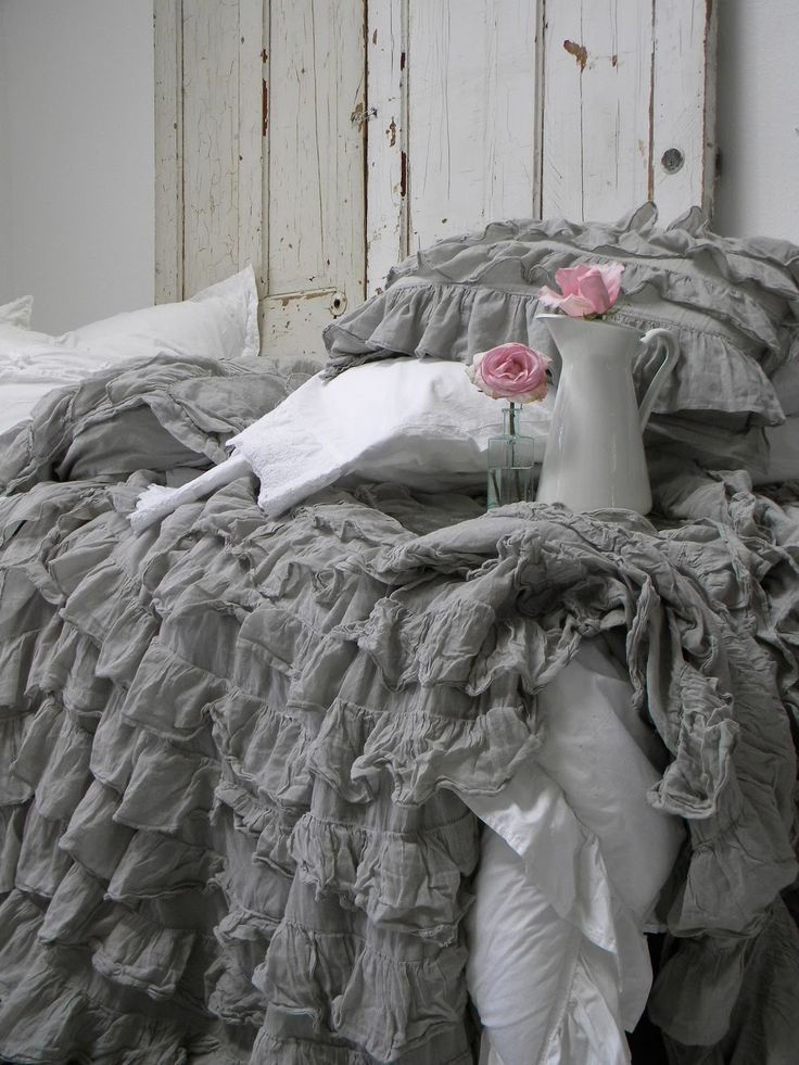 I keep coming back to this... am I attracted to the GREY or the RUFFLES... or the little spash of pink...