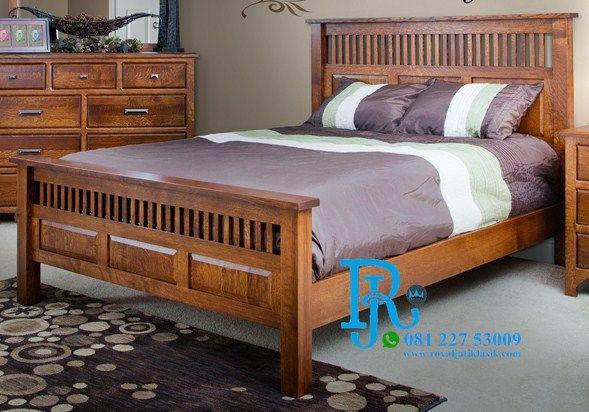 Tempat Tidur Minimalis Jati Rustic Desain Tempat Tidur Kayu Perabot Kamar Tidur Desain Furnitur