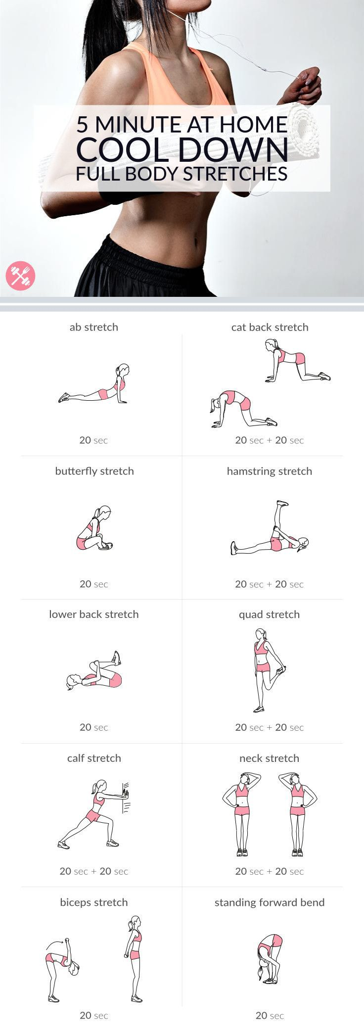 Stretch and relax your entire body with this 5 minute routine. #glutesandgloss #stretching #workout #body #fitness #blogger