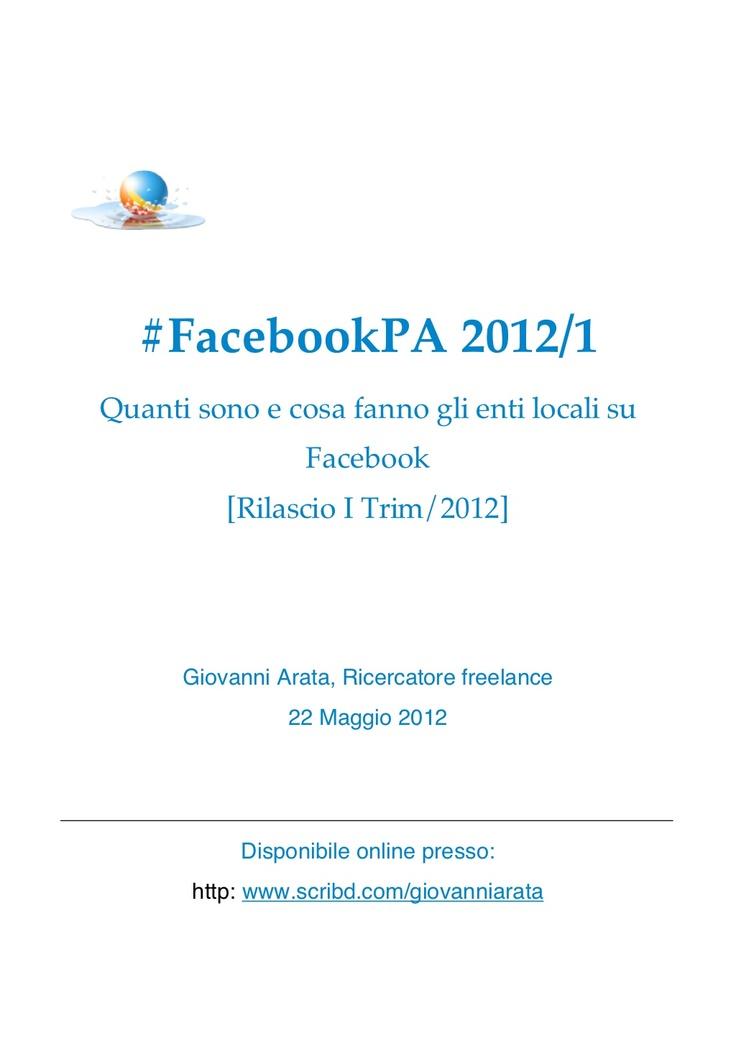 Rapporto #FacebookPA 2012
