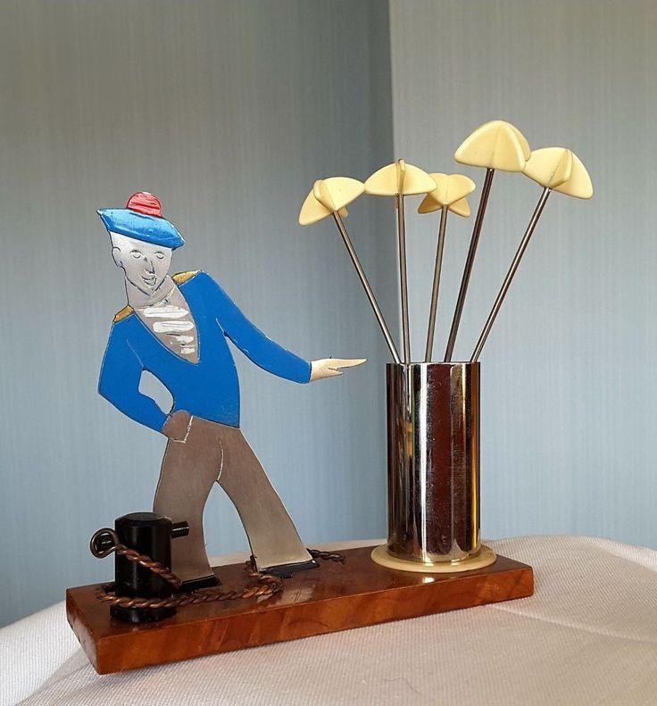 Art Deco Cocktail Sticks Sudre France SAILOR
