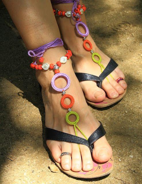 181 best sandalias descalzas images on Pinterest | Feet jewelry ...