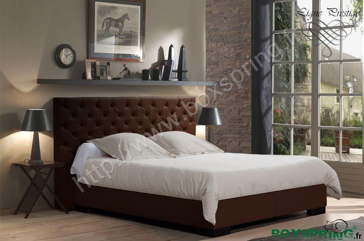 Lit boxspring de luxe vend me avec t te de lit - Tete de lit en forme de coeur ...